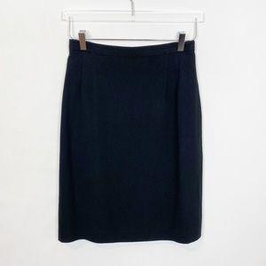 Zelda Vintage Pencil Skirt Black Crepe 6
